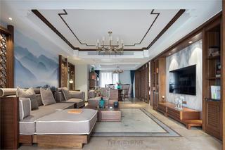 大户型新中式客厅每日首存送20