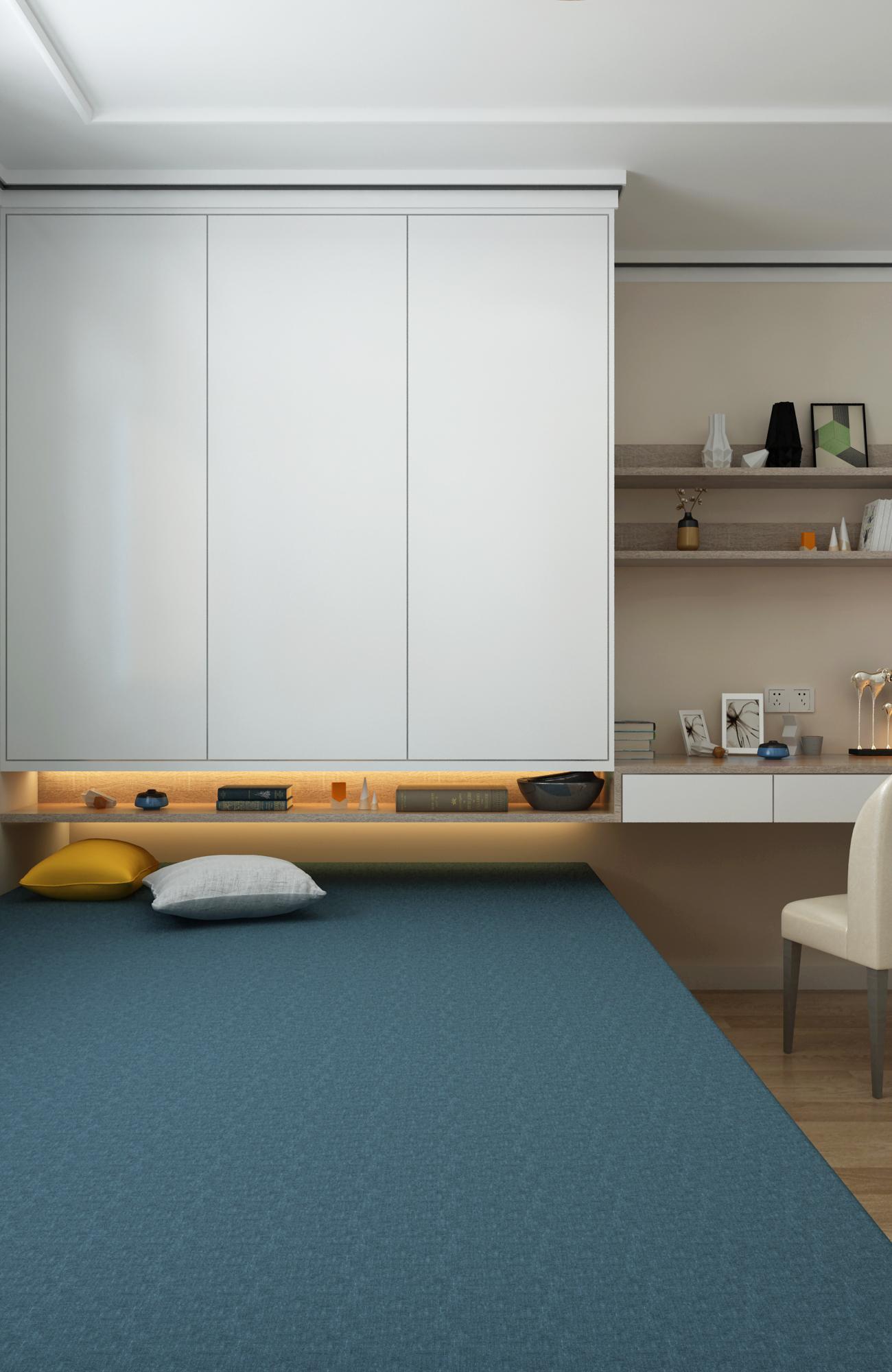 现代简约二居榻榻米卧室装修效果图