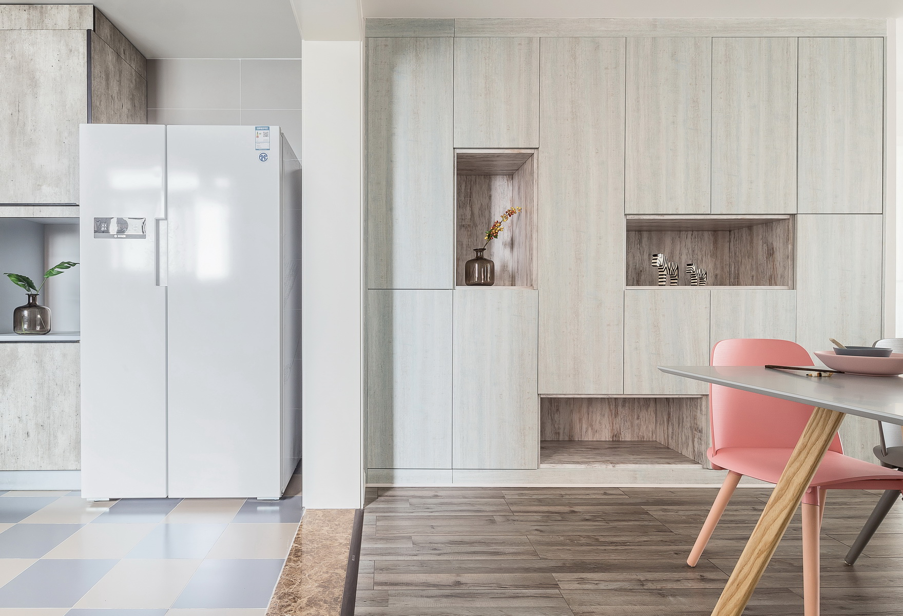 128平北欧风装修壁柜设计