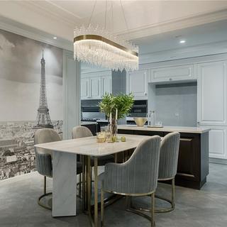 现代美式四居室装修效果图