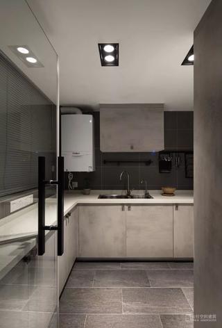 现代风格二居室厨房装修效果图
