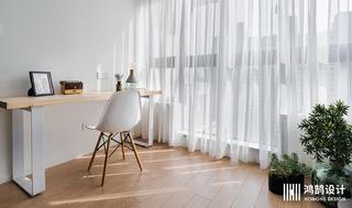 简约北欧风两居装修阳台书桌设计