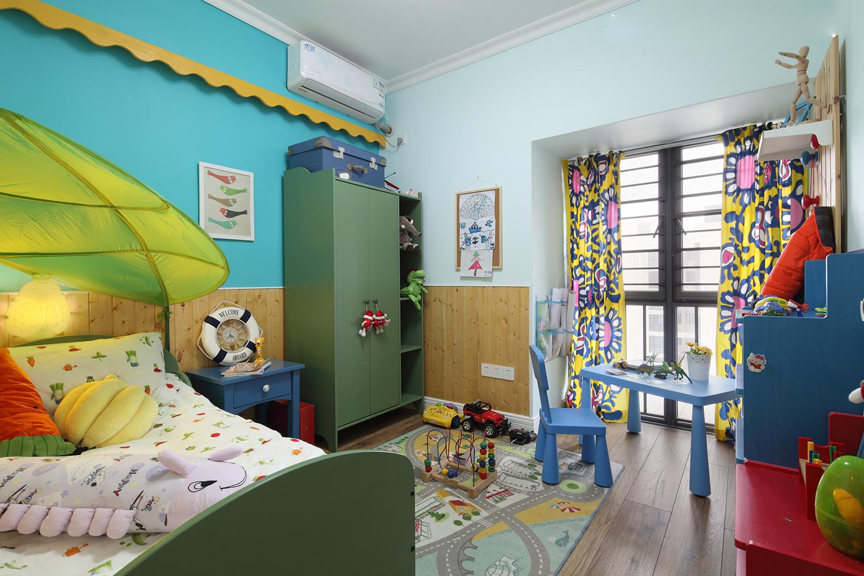 田园风格三居儿童房装修效果图