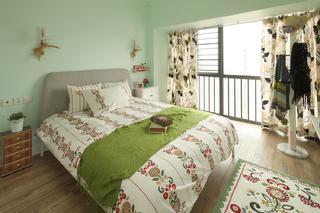 田园风格三居卧室每日首存送20