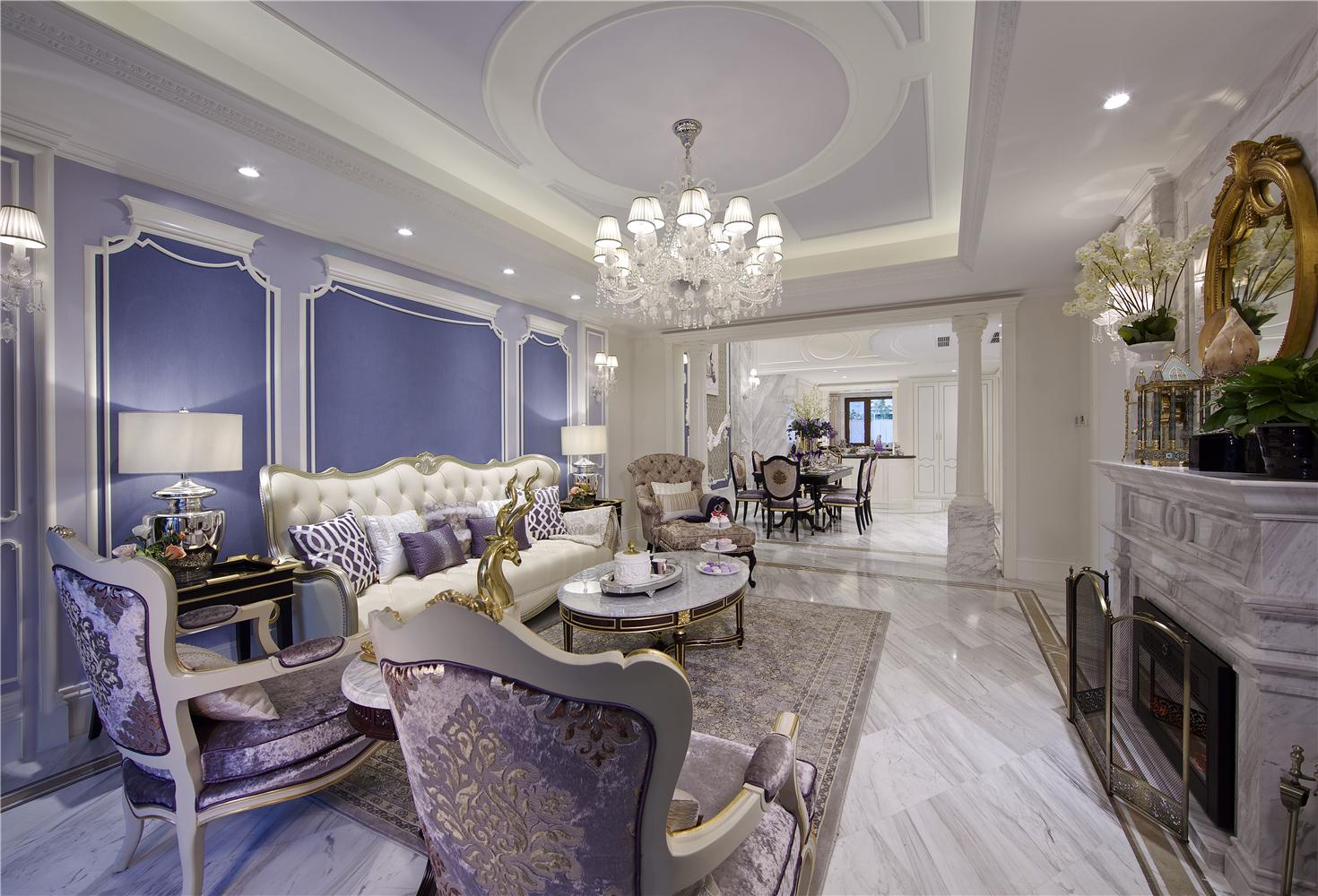 法式风格别墅客厅装修效果图