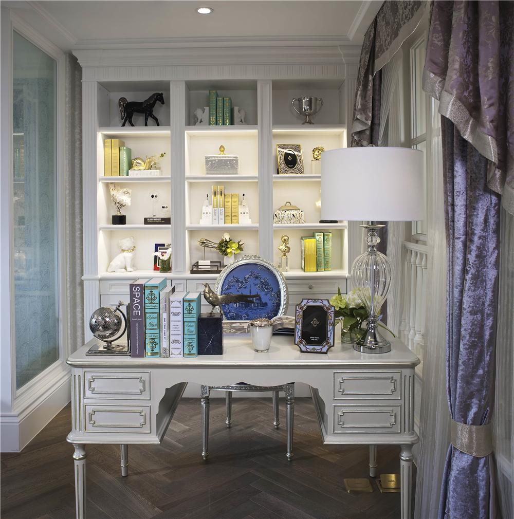 法式风格别墅书房装修效果图