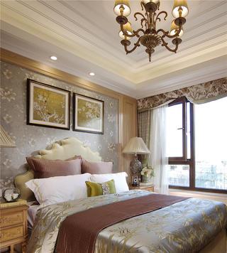 美式田园风别墅卧室装修效果图