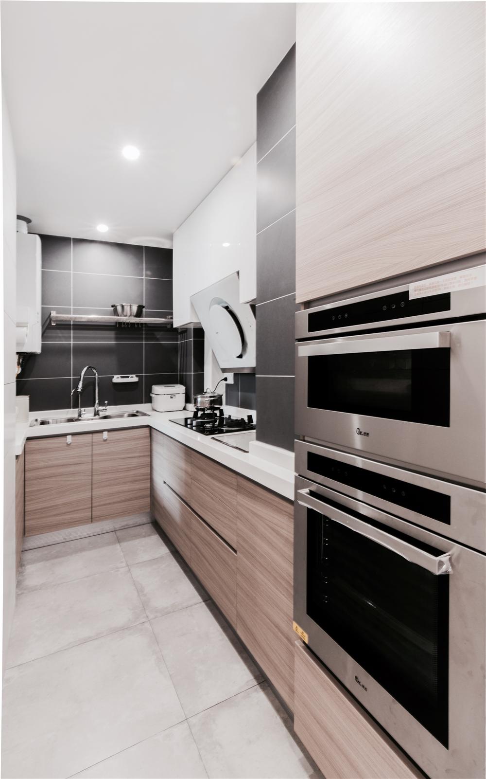 80平米简约风厨房装修效果图