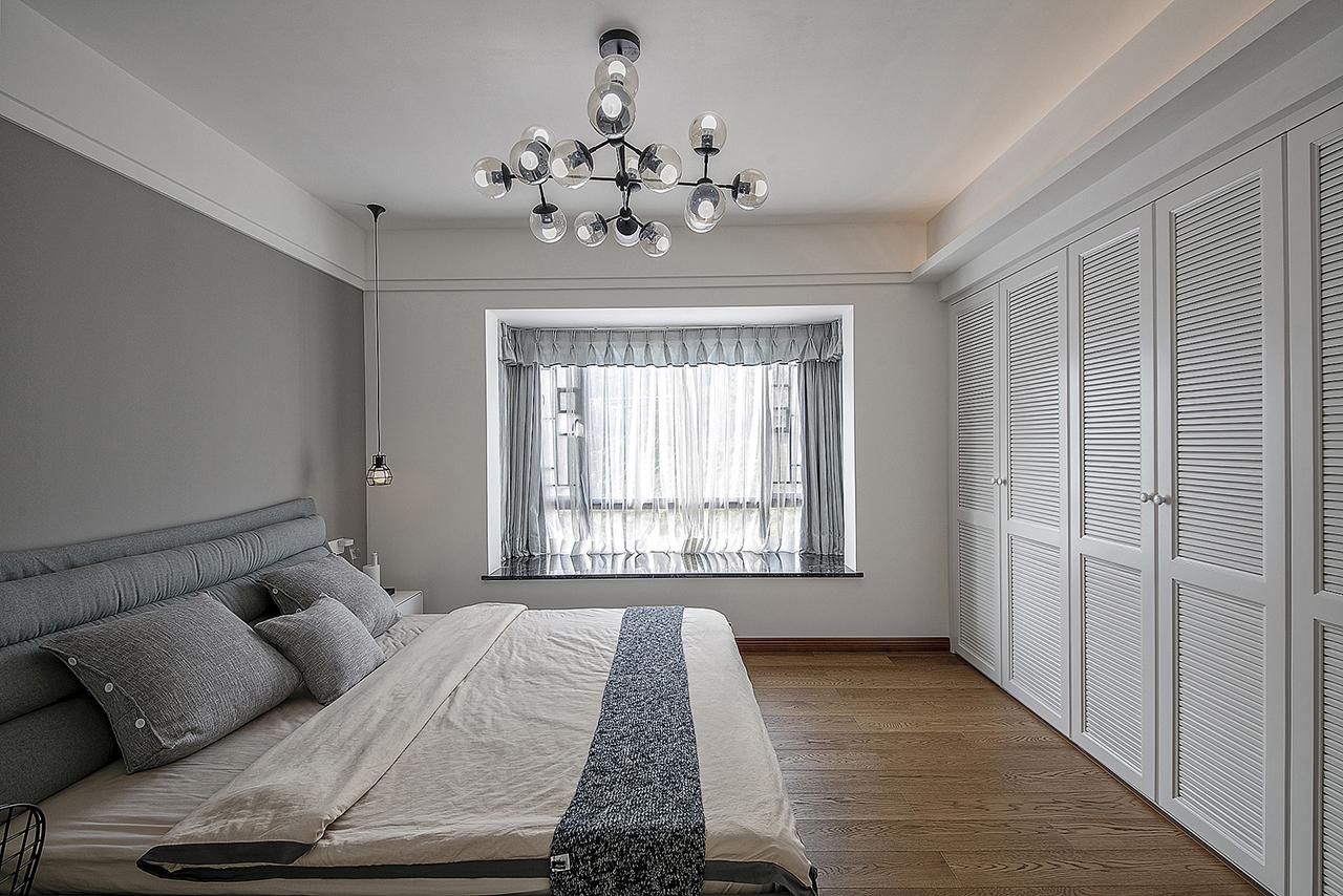 200平新中式装修卧室效果图