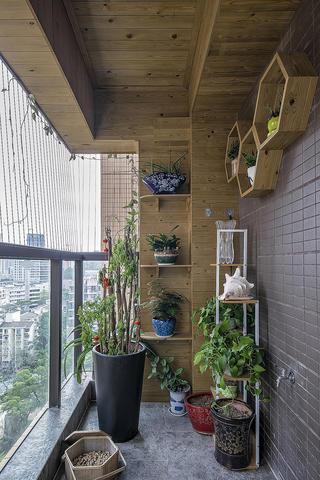200平新中式装修阳台效果图