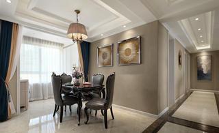 美式新古典三居餐厅装修效果图