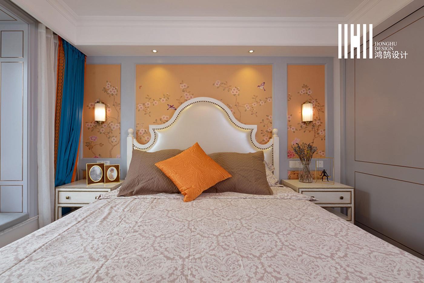 138平米四居室床头背景墙装修效果图