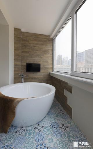 160㎡简约北欧风装修阳台浴缸设计