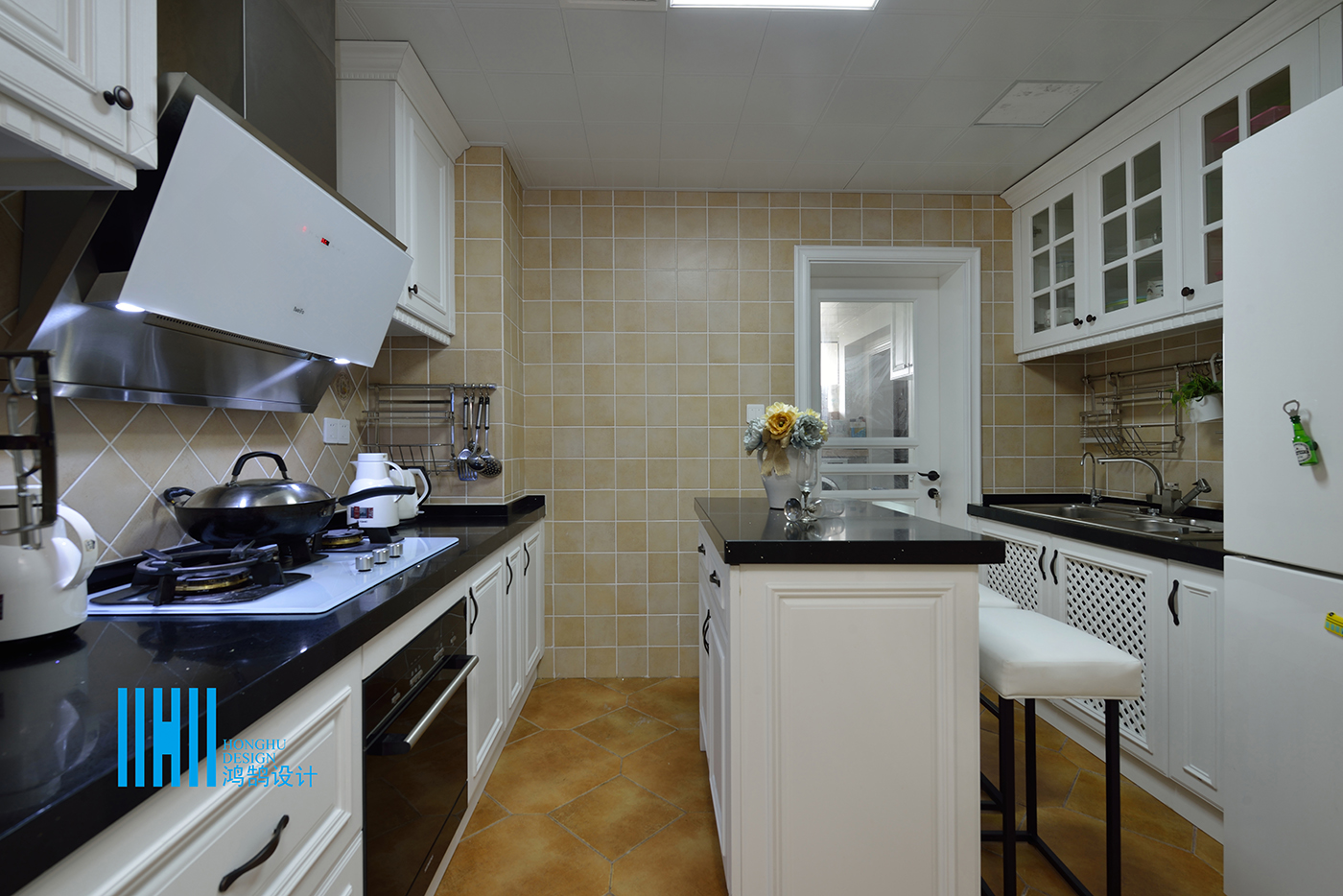 美式风格四房厨房装修效果图