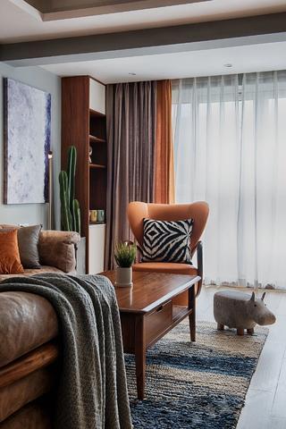 北欧风格二居室装修客厅一角