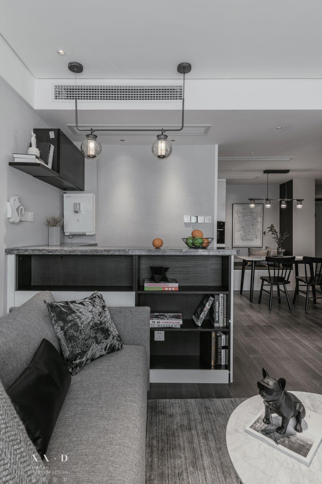 82㎡现代风装修吧台柜设计