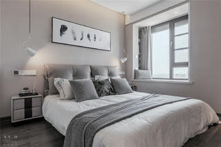 82㎡现代风卧室装修效果图