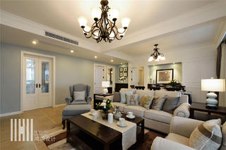 140平美式风格客厅每日首存送20