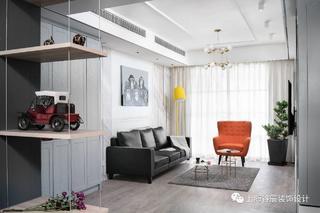 现代简约三居室客厅每日首存送20