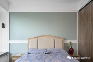 现代简约三居卧室背景墙装修效果图
