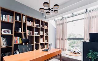 现代简约别墅书房装修效果图