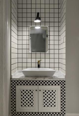 90㎡北欧风三居装修洗手台设计图