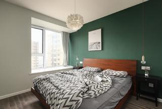 90㎡北欧风三居卧室装修效果图