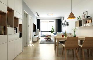65平米兩居室餐廳裝修效果圖