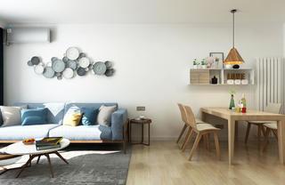 65平米两居室客餐厅装修效果图