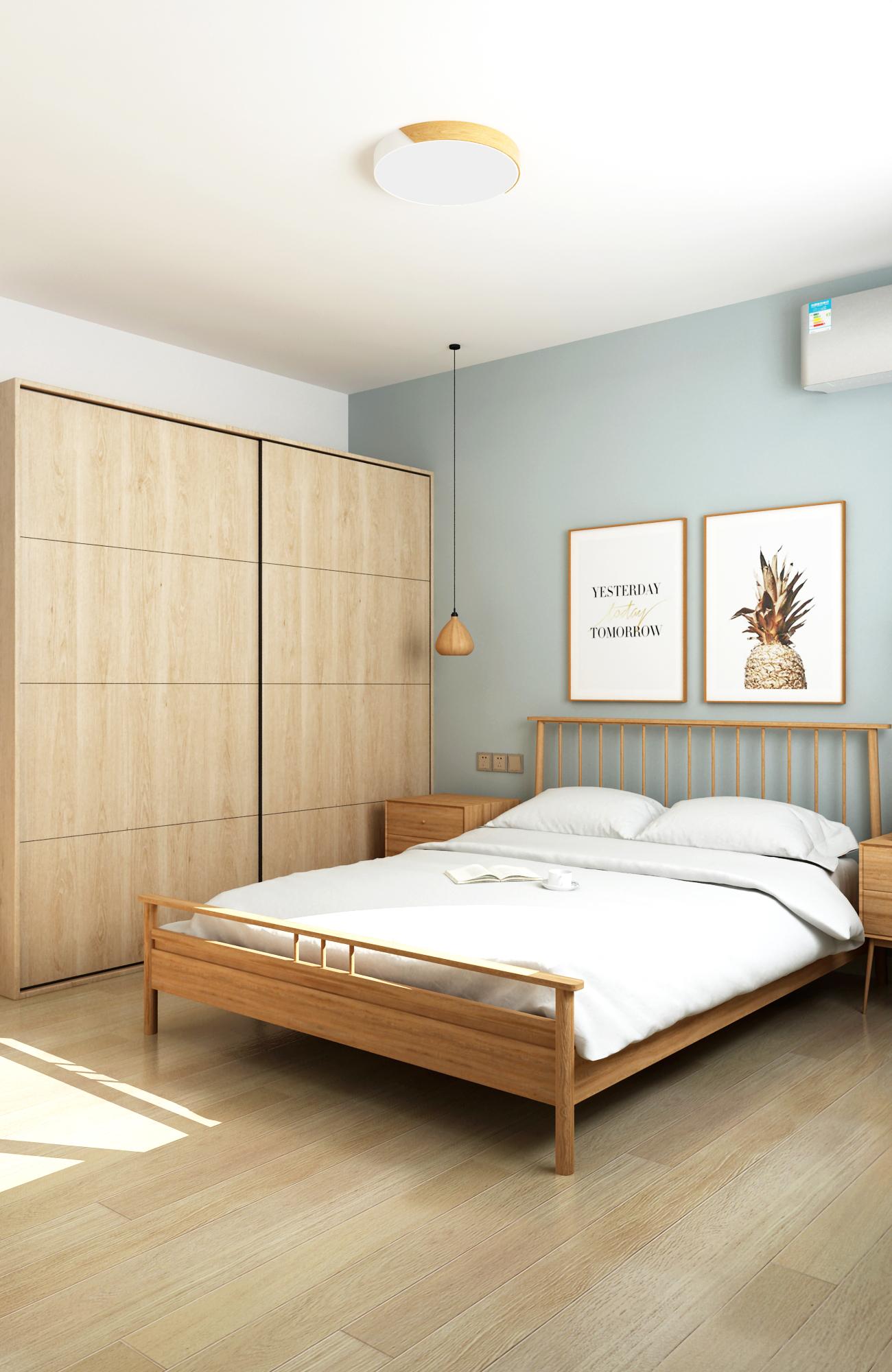65平米两居卧室装修效果图