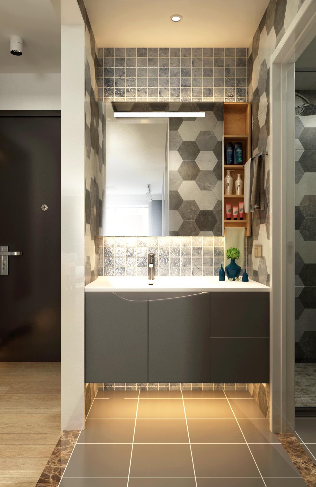 65平米两居室装修洗手台设计