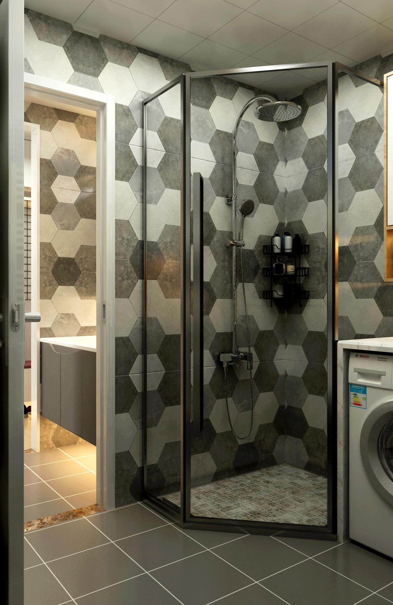 65平米两居室卫生间装修效果图