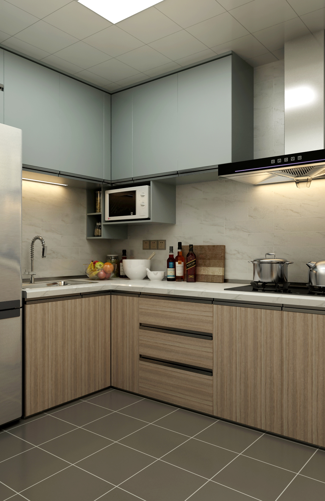 65平米两居室厨房装修效果图