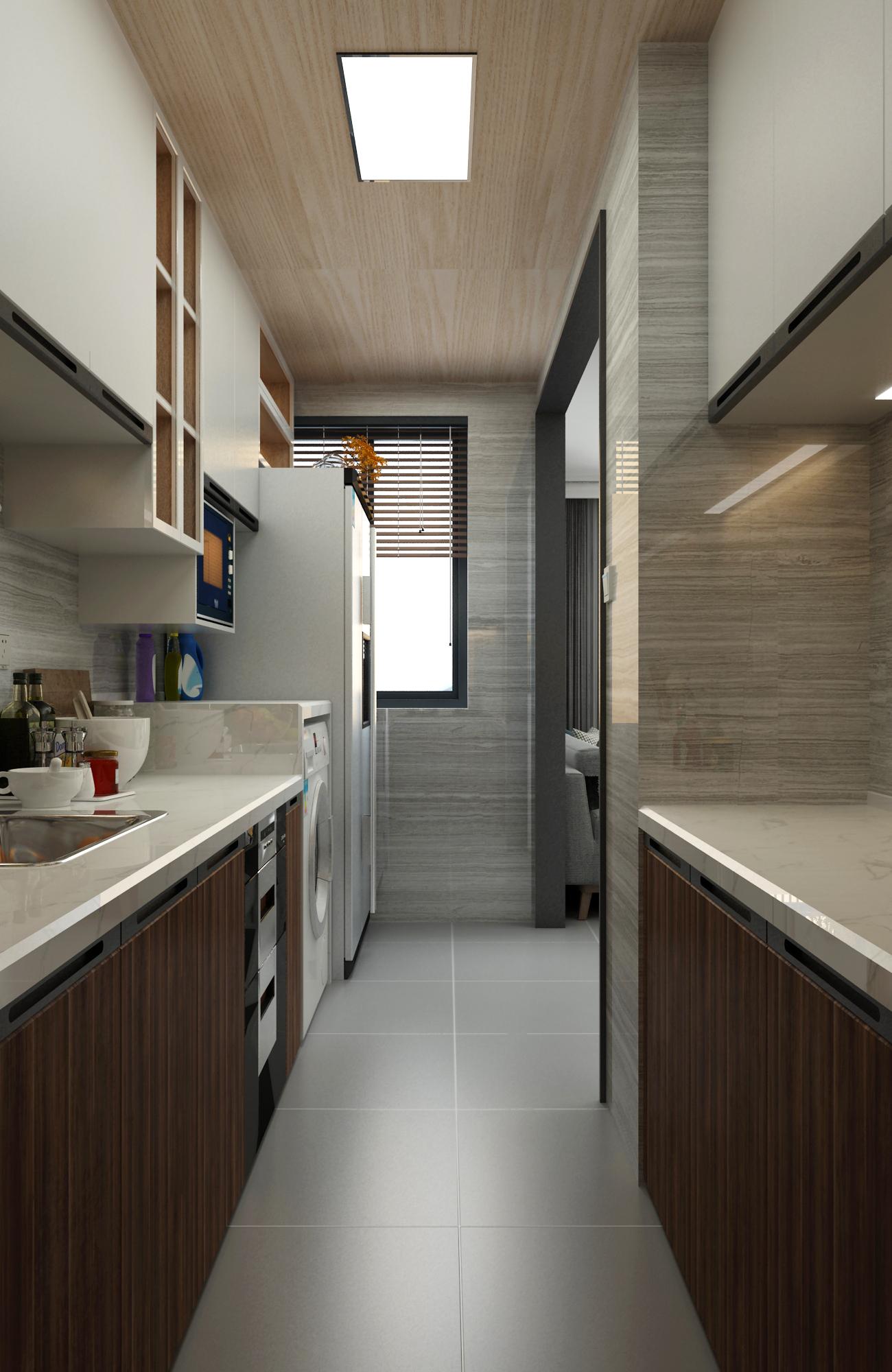 现代风两居厨房装修效果图
