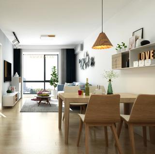 65平米两居室装修效果图