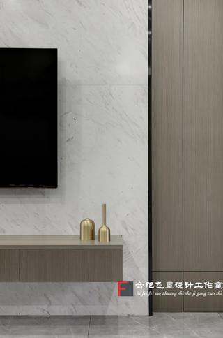 136㎡简约现代三居电视背景墙装修效果图