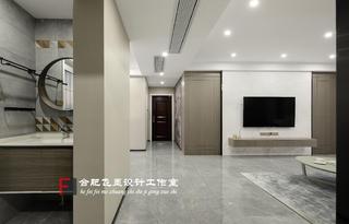 136㎡简约现代三居客厅过道装修效果图