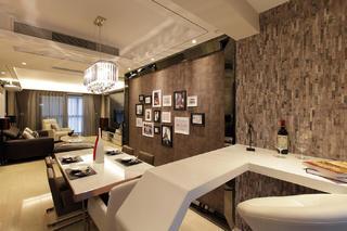 140㎡现代简约装修餐厅吧台设计
