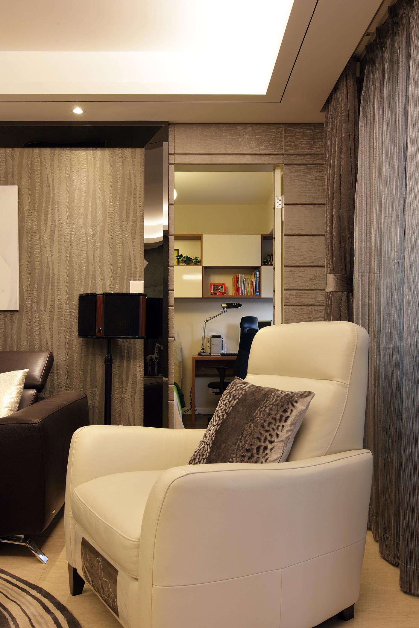 140㎡现代简约装修单人沙发设计