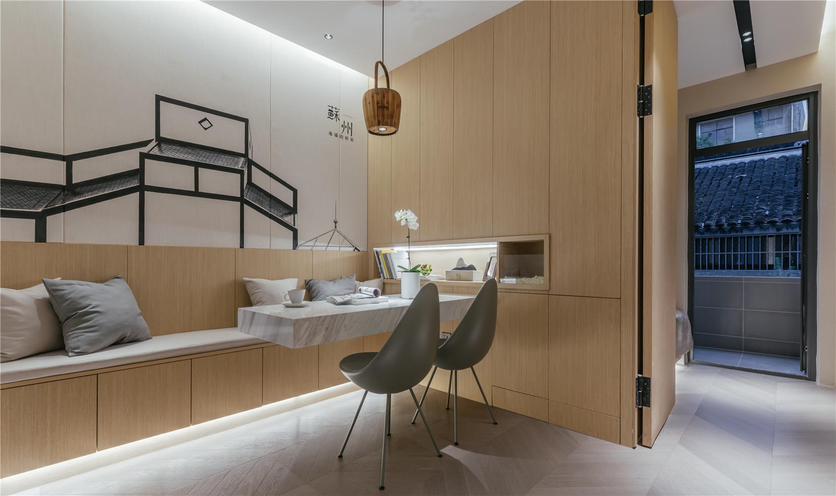 24平小户型两居客餐厅装修效果图
