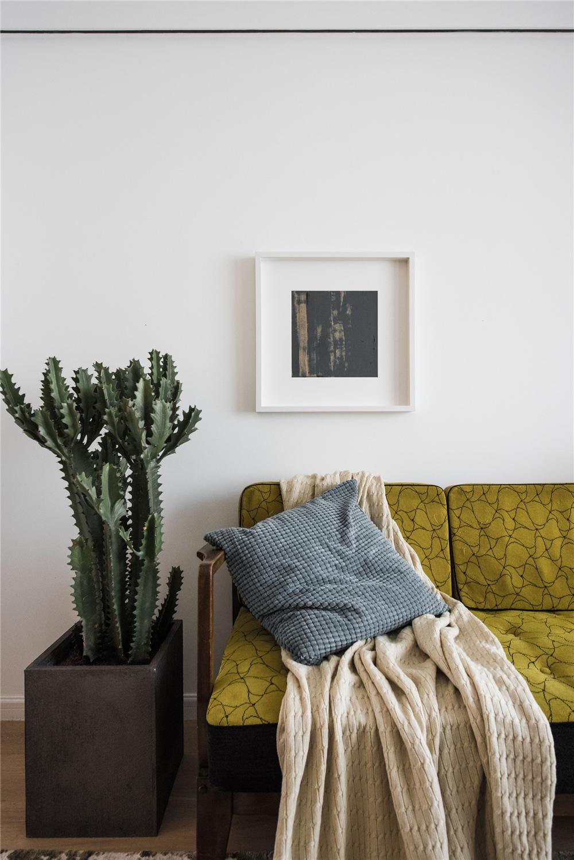 50平小户型一居装修沙发一角