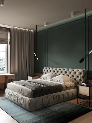 66平米公寓卧室装修效果图