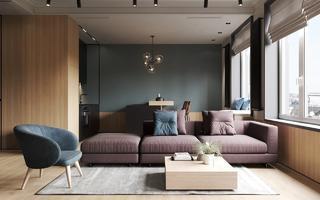 66平米公寓客厅装修效果图