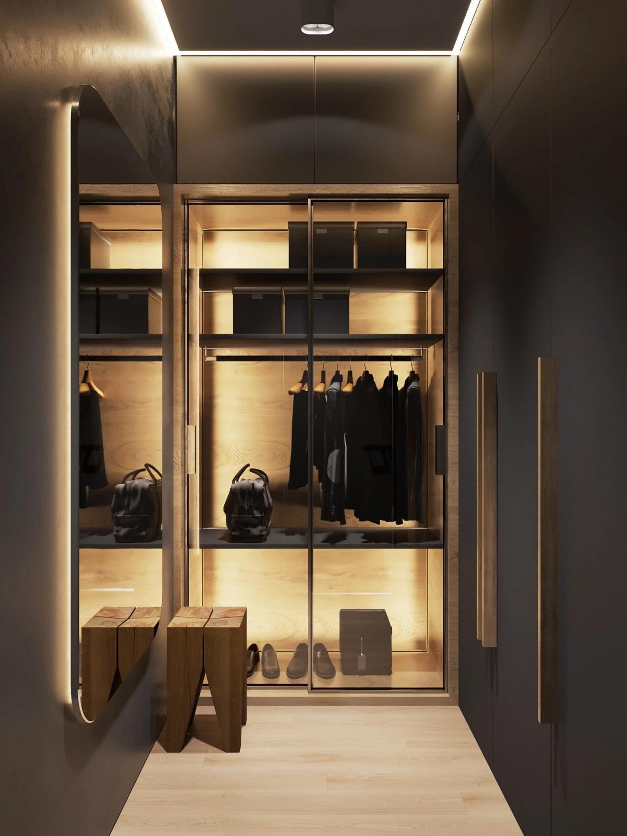 66平米公寓衣帽间装修效果图