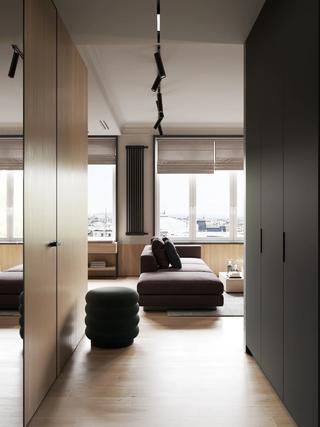 66平米公寓玄关走道装修效果图
