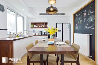 150㎡现代北欧风厨餐厅装修效果图