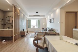 85㎡日式三居客厅装修效果图