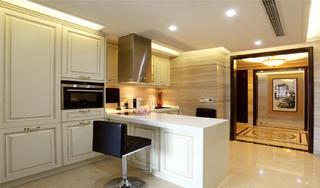 大户型中式风格装修西厨吧台设计