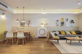 北欧风格三居室客餐厅装修效果图