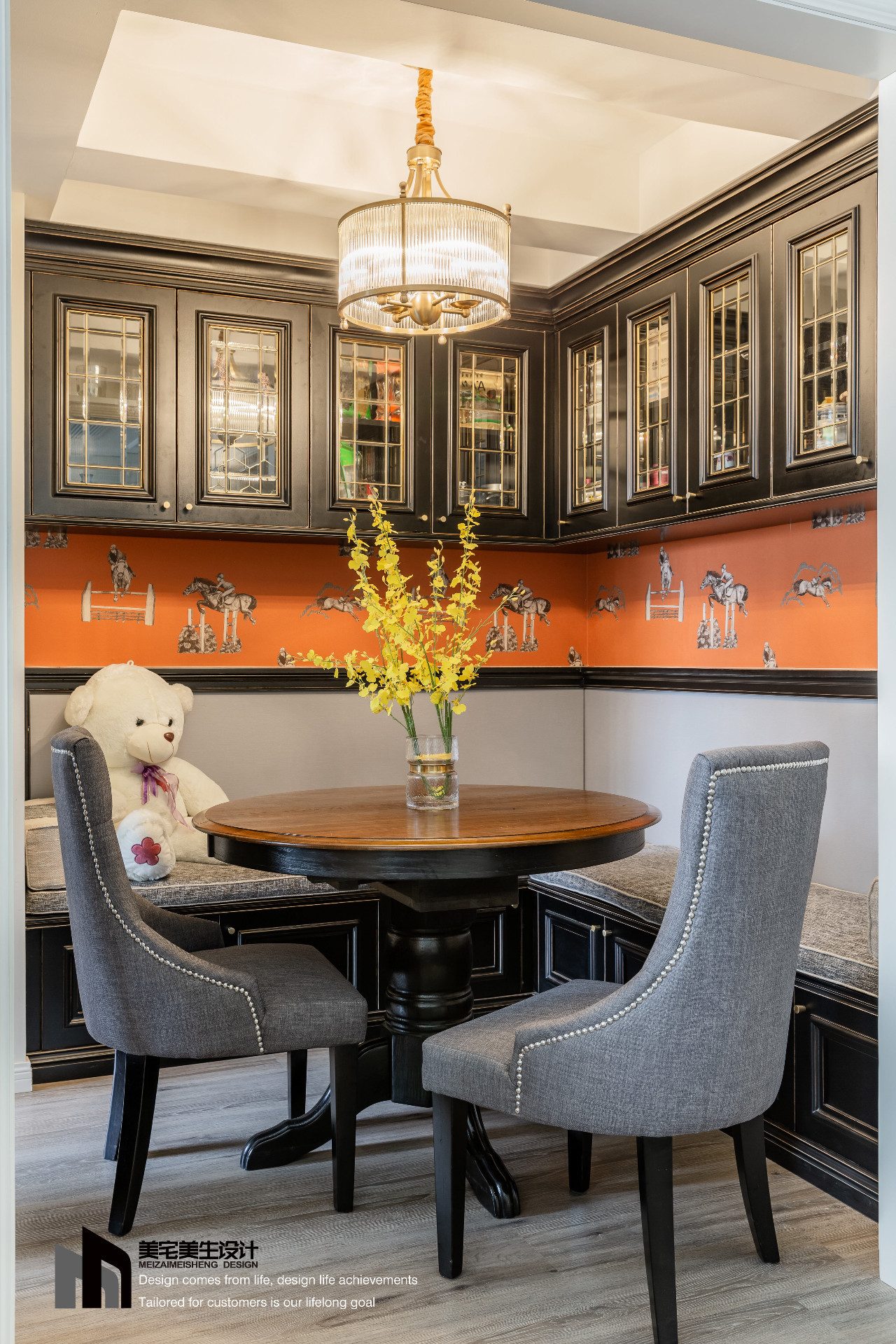 美式三居室餐厅装修效果图